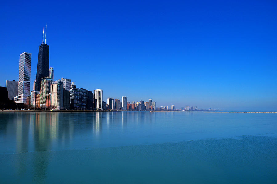 Chicago Photograph - Chicago Skyline by Paul Ge