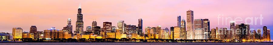 2010 Photograph - Chicago Skyline Panoramic by Paul Velgos