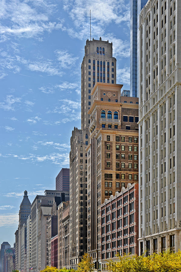Historic Photograph - Chicago Willoughby Tower And 6 N Michigan Avenue by Christine Till