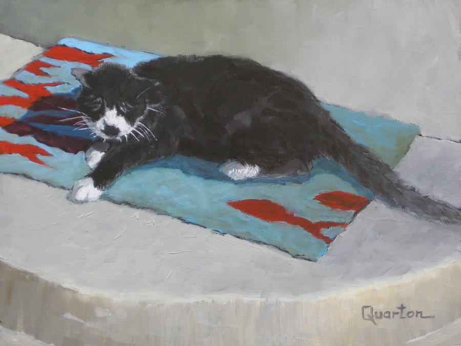 Cat Painting - Chicken Dreaming Of Fish by Lori Quarton