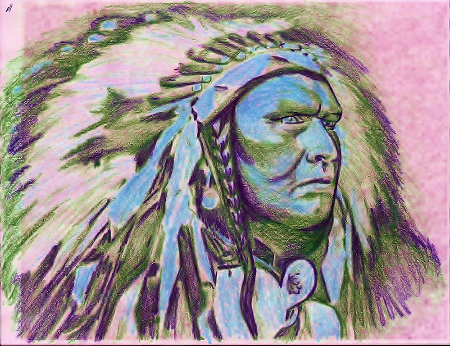 Chief 4 Drawing by Jamie Farley
