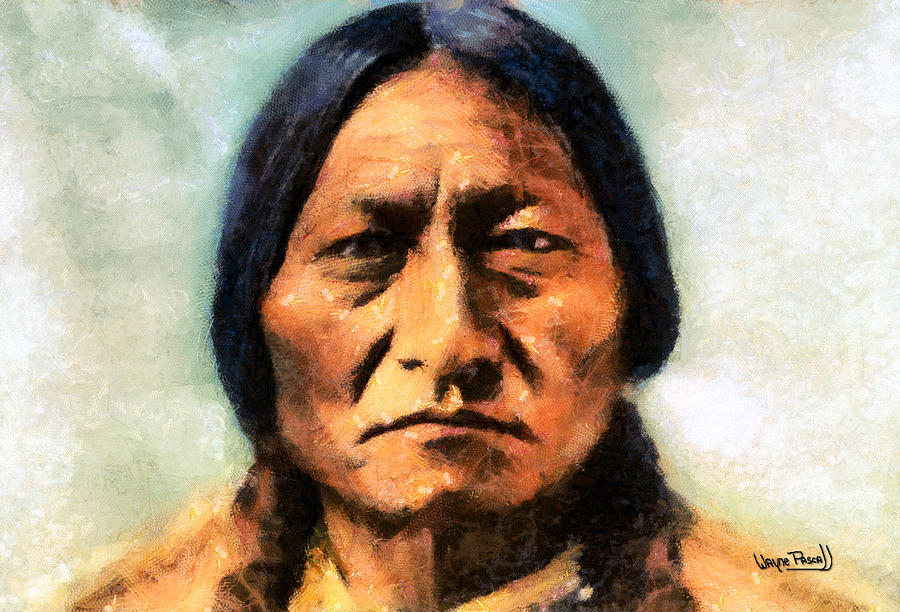 chief sitting bull painting by wayne pascall. Black Bedroom Furniture Sets. Home Design Ideas