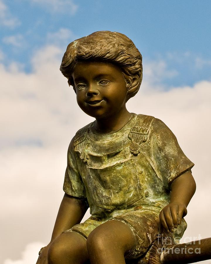 Sculpture Photograph - Child In The Clouds by Al Powell Photography USA