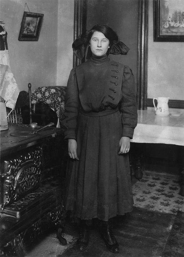 1910s Photograph - Child Labor, Eva Boylan, 14 Years Old by Everett