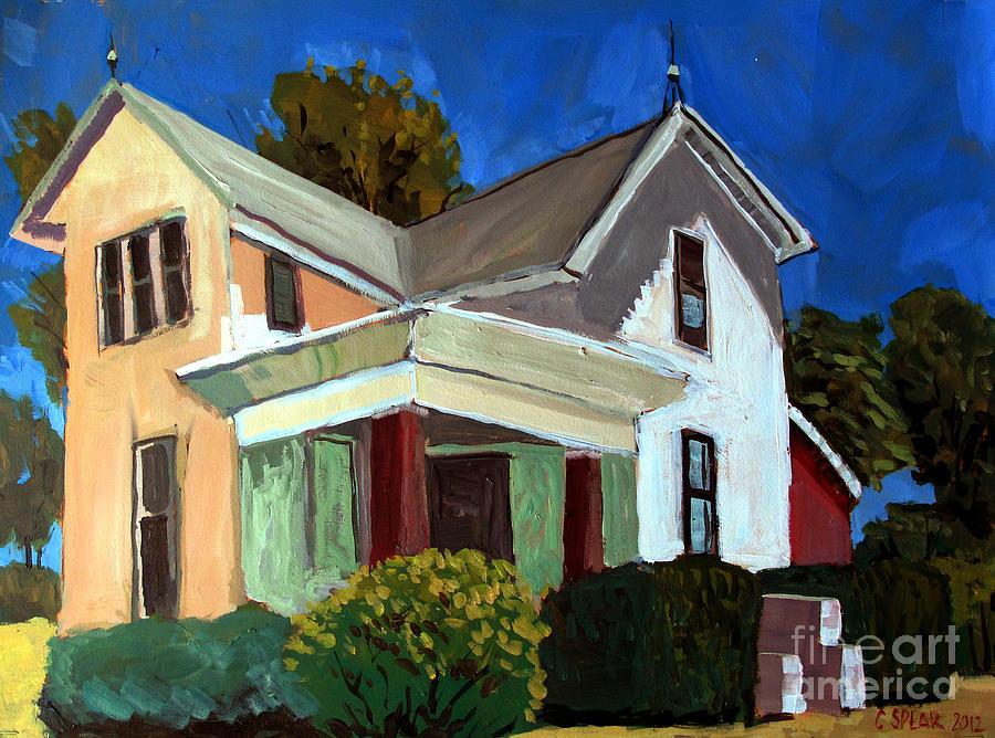 Farm Painting - Childhood Home Plein Air by Charlie Spear