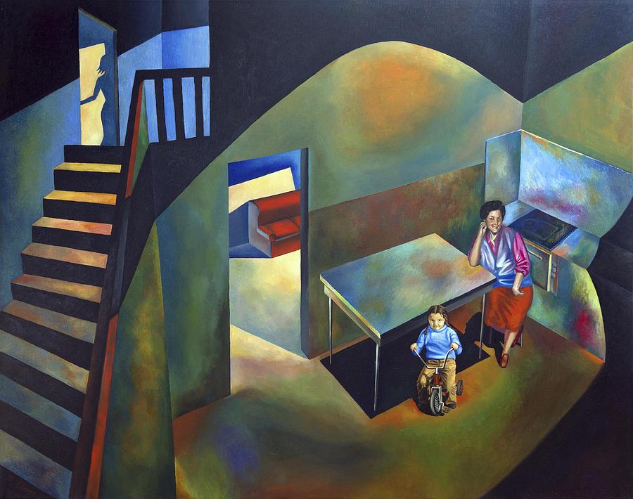 Motherhood Painting - Childhood House by Fernando Alvarez