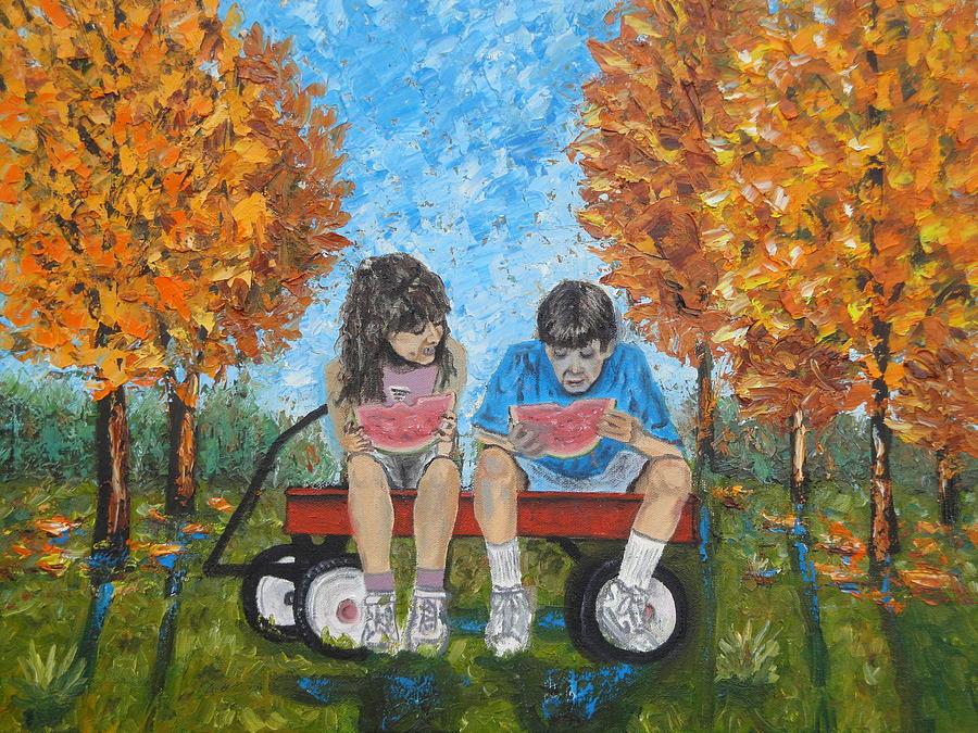 Childhood Memories Painting by Charles Vaughn