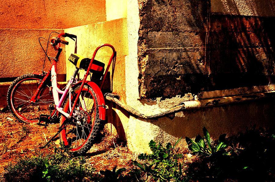 Cycle Photograph - Childhood Memory by Jyotsna Chandra