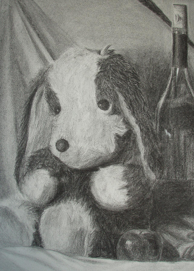 Dog Drawing - Childlike by Tania Kelvin