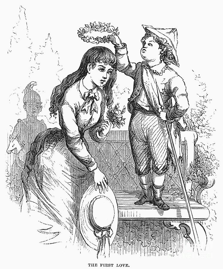 1876 Photograph - Children: Love by Granger