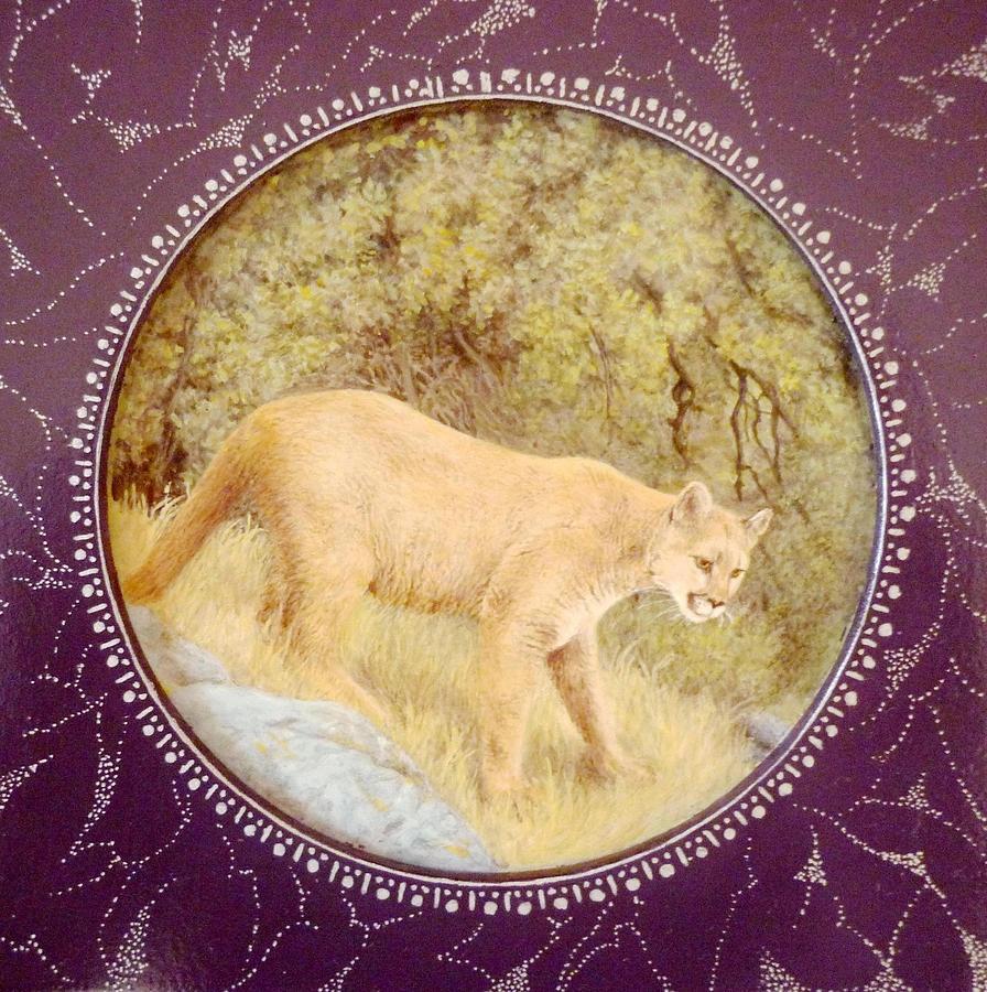 Wild Animals Painting - Chilean Puma by Ronald Osborne