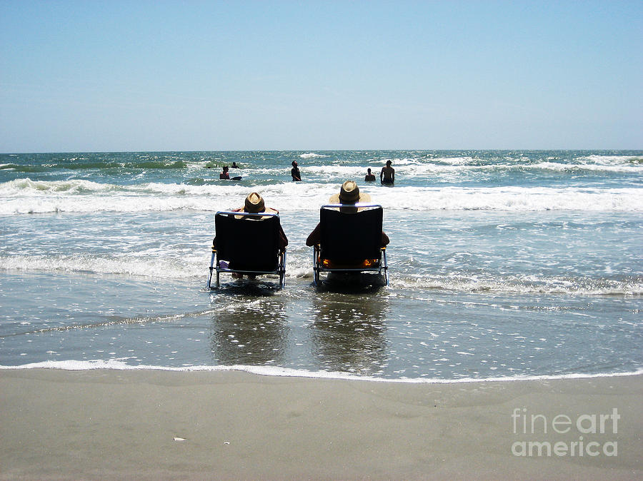 Beach Photograph - Chillin by Bob and Nancy Kendrick