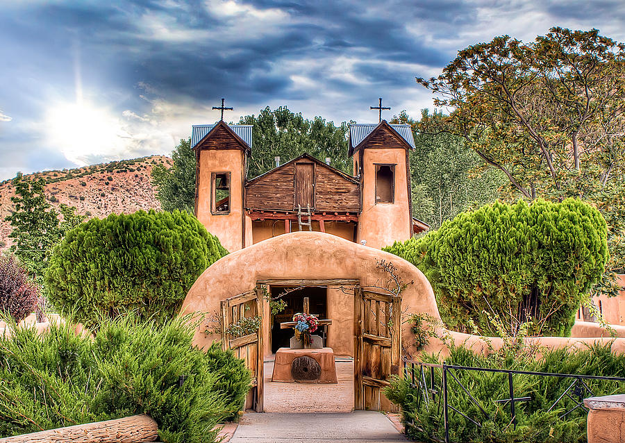 Chimayo Photograph - Chimayo Church by Anna Rumiantseva
