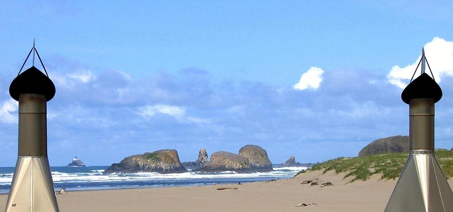 Seascape Photograph - Chimneys Of Cannon Beach by Will Borden