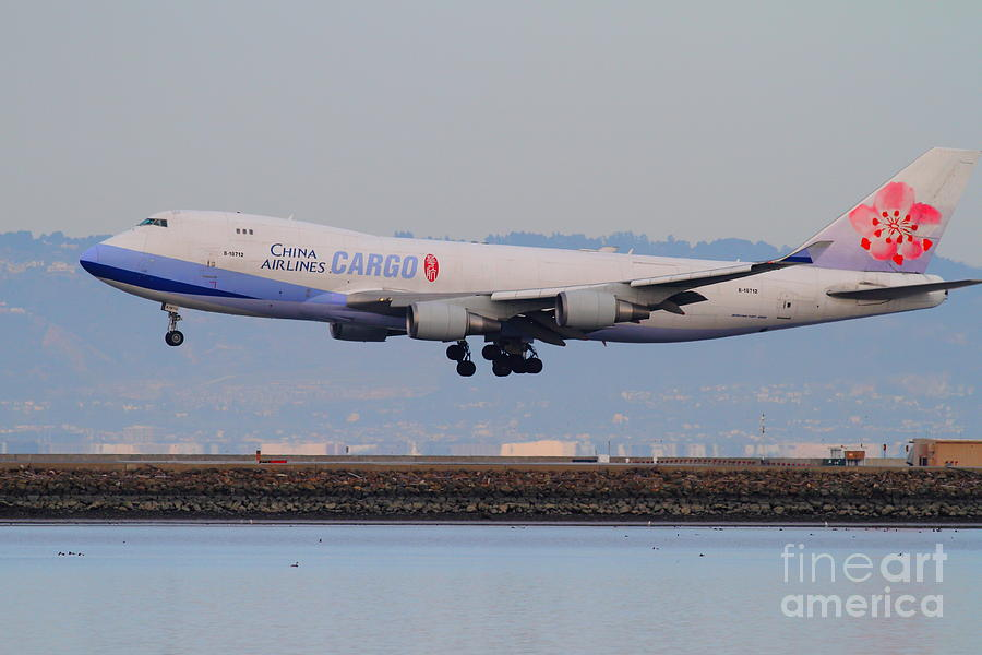 Airplane Photograph - China Airlines Cargo Jet Airplane At San Francisco International Airport Sfo . 7d12301 by Wingsdomain Art and Photography