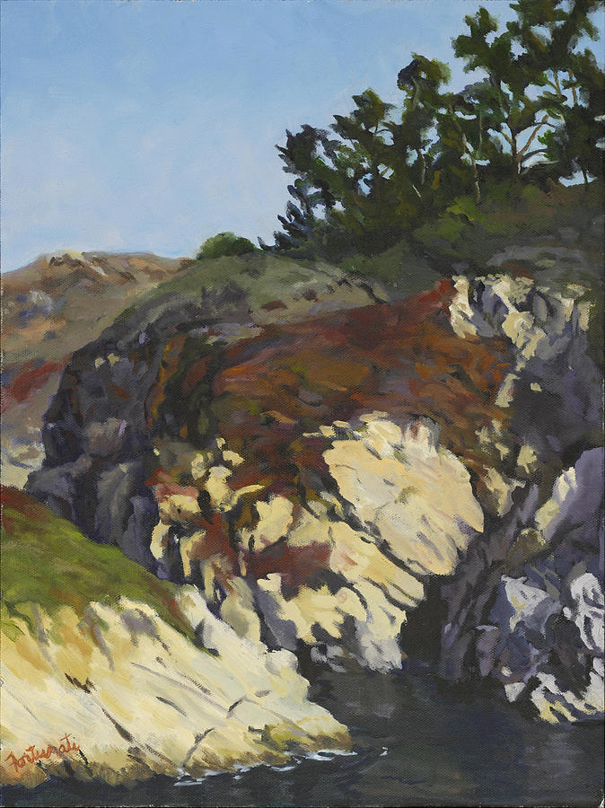 China Cove Painting - China Cove Cliffs by Marian Fortunati