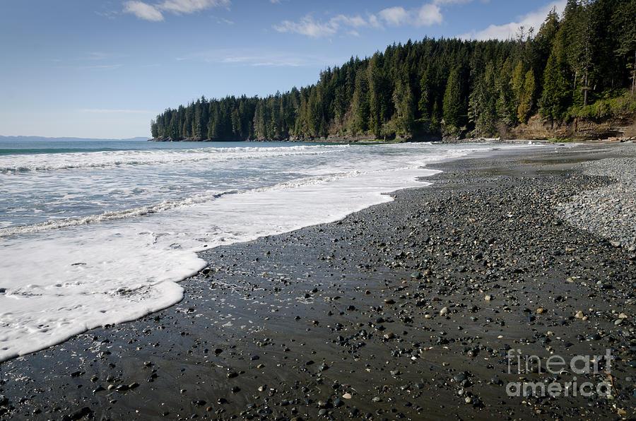 China Beach Photograph - China Wave China Beach Juan De Fuca Provincial Park Vancouver Island Bc by Andy Smy