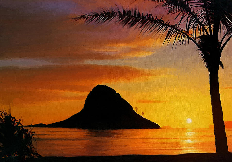 Oahu Digital Art - Chinamans Hat Island by Dale Jackson