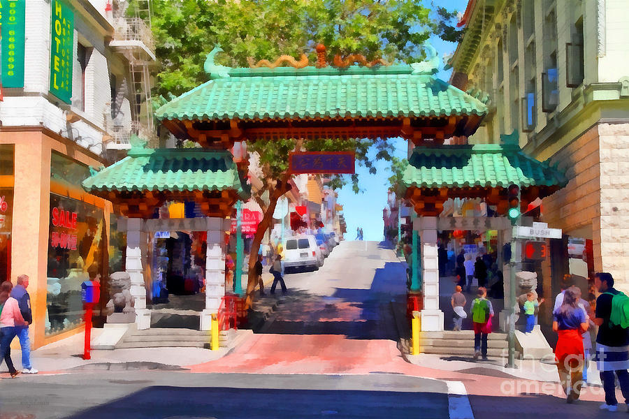 San Francisco Photograph - Chinatown Gate In San Francisco . 7d7139 by Wingsdomain Art and Photography