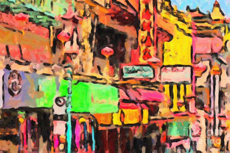 San Francisco Photograph - Chinatown In Abstract by Wingsdomain Art and Photography