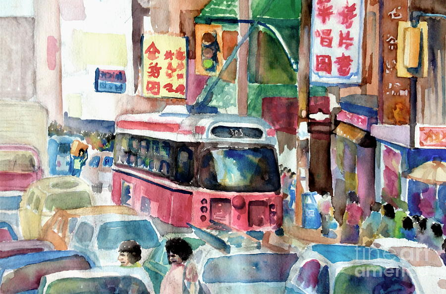 Watercolour Painting - Chinatown by Mike N