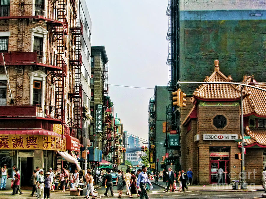 Chinatown Photograph - Chinatown-nyc by Anne Ferguson