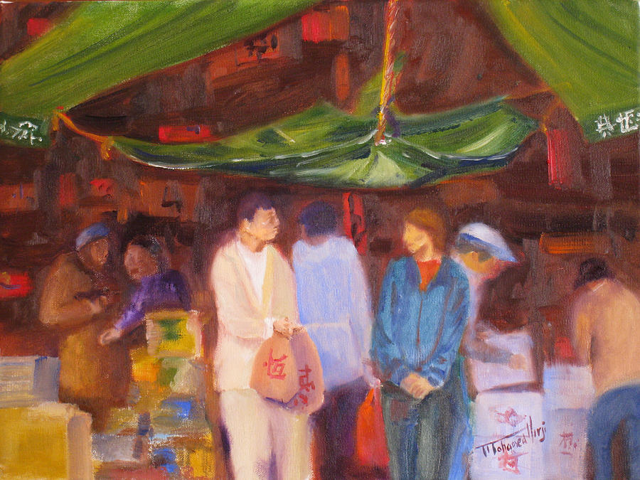 Chinese Painting - Chinatown  Vancouver by Mohamed Hirji