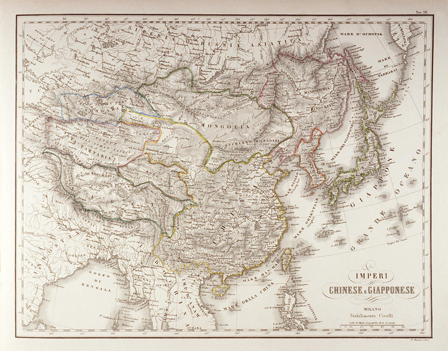 Horizontal Digital Art - Chinese And Japanese Empires by Fototeca Storica Nazionale