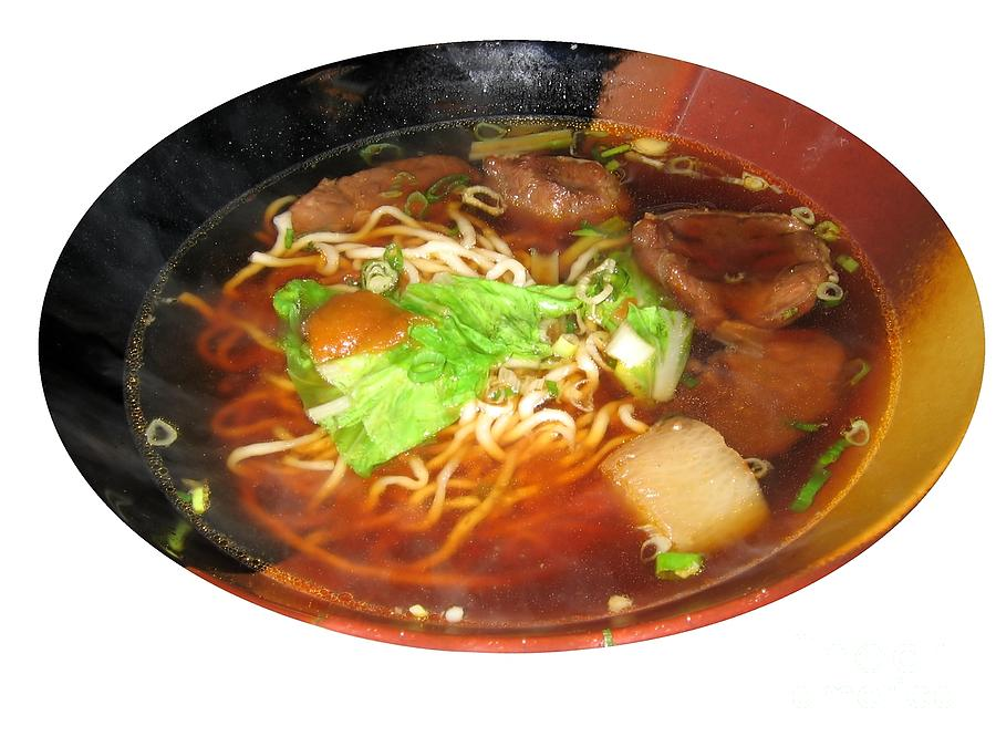 Chinese Photograph - Chinese Beef Noodle Soup by Yali Shi