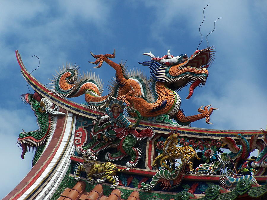 Chinese Dragon Photograph - Chinese Dragon by Steve Huang