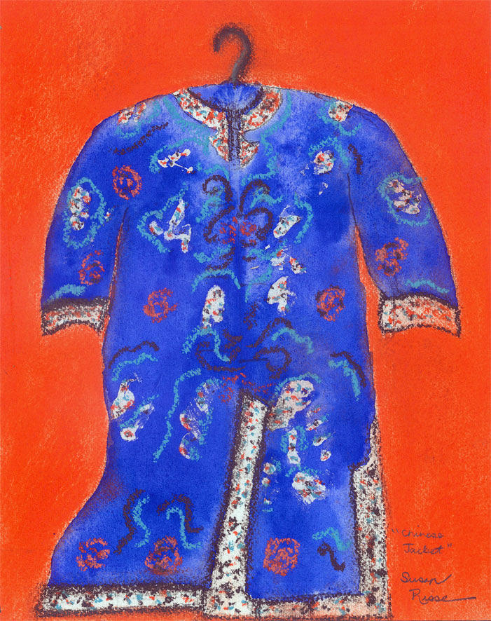 Chinese Jacket Painting by Susan Risse