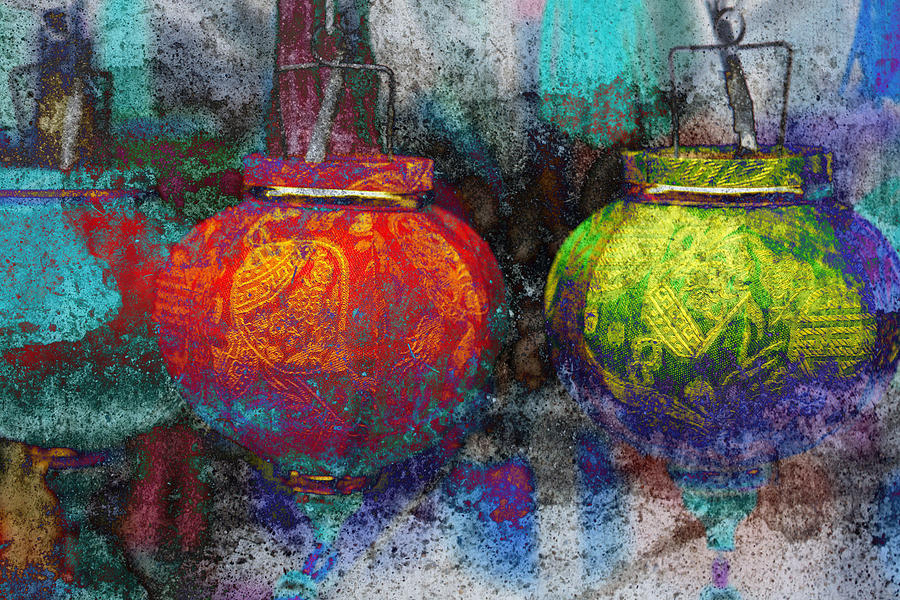 Abstract Photograph - Chinese Lanterns by Skip Nall