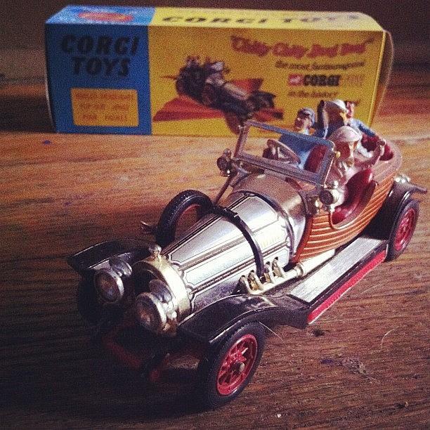 Car Photograph - Chitty Chitty Bang Bang Corgi Toy by Katie Cupcakes