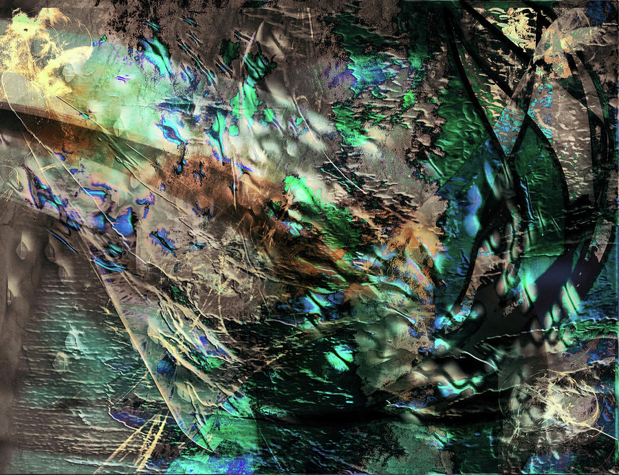 Abstraction Digital Art - Chlorophyll by Monroe Snook