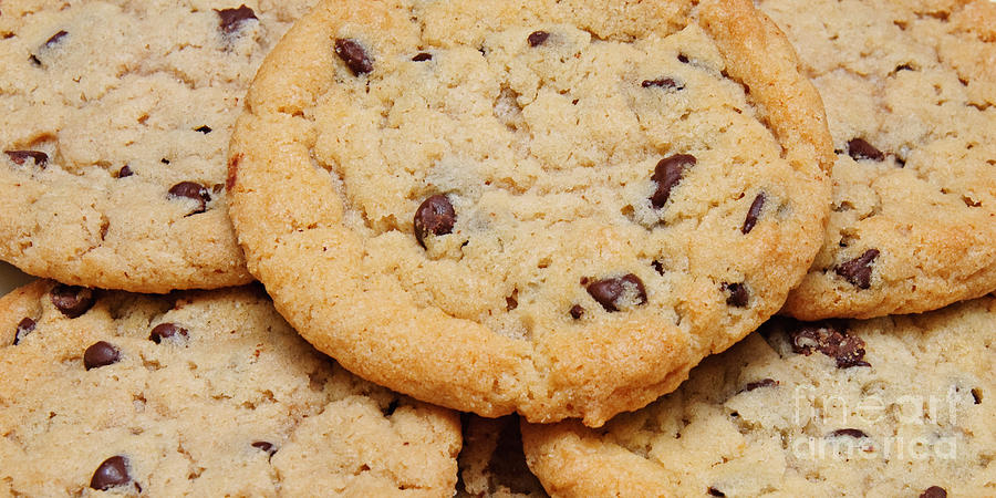 Chocolate Chip Cookies Pano Photograph by Andee Design