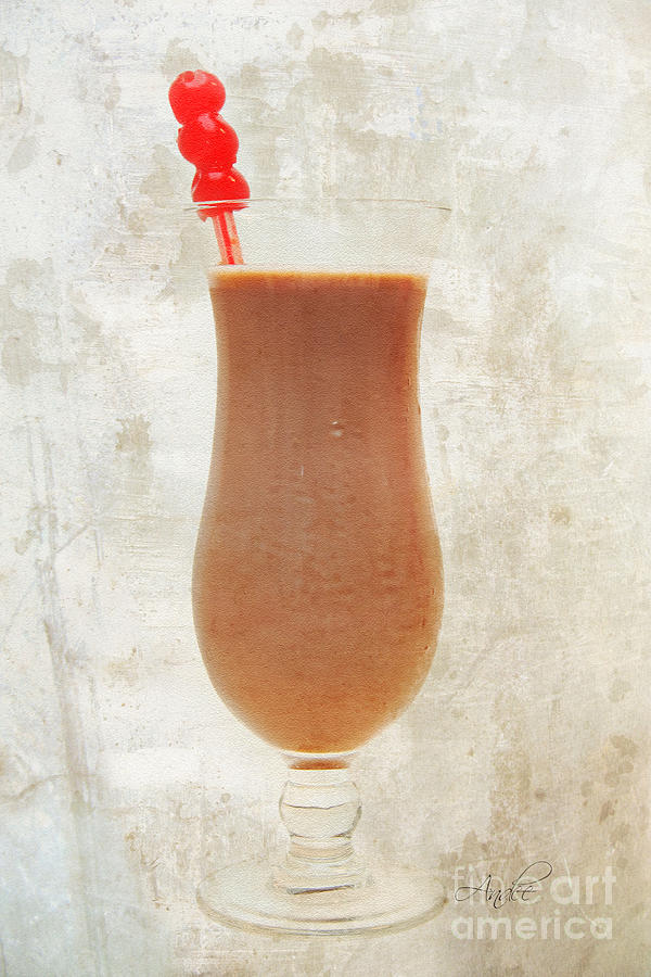 Chocoholic Photograph - Chocolate Milk With Cherries On Top by Andee Design