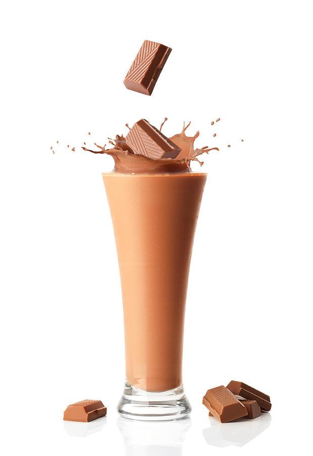 Chocolate Photograph - Chocolate Milkshake Smoothie by Amanda Elwell