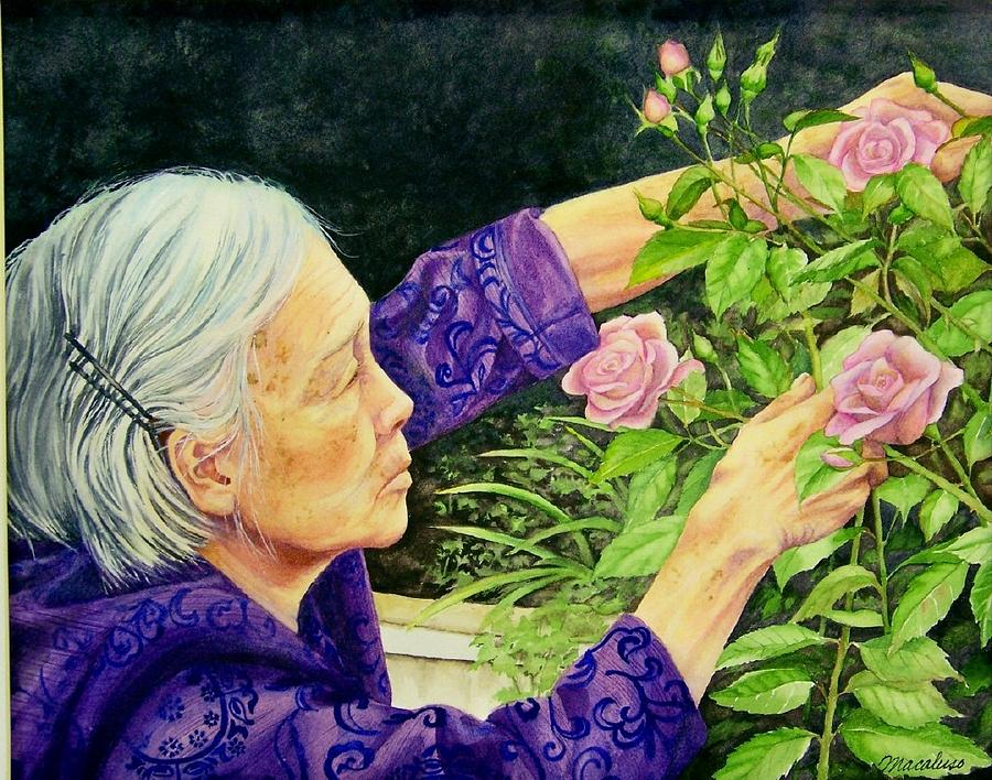 china painting chongqing gardener by lynda lawrence