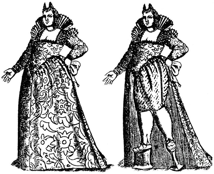 1592 Photograph - Chopine/platform Shoe by Granger