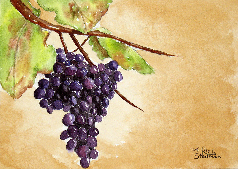 Grapes Painting - Chris Grapes by Richard Stedman