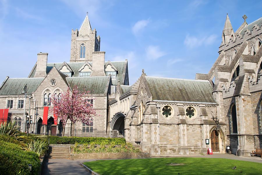 Ancient Photograph - Christ Church Cathedral In Dublin by Artur Bogacki