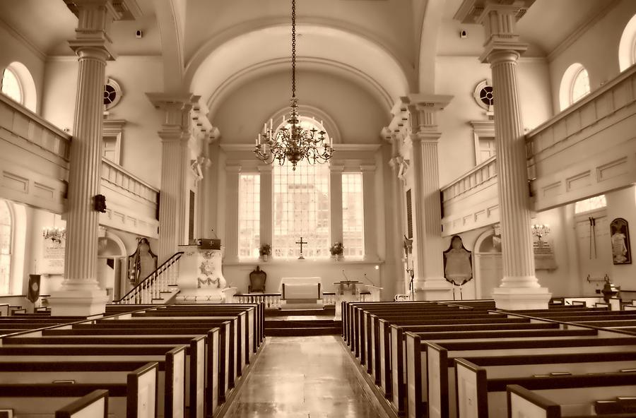 Churches Photograph - Christ Church  by Thomas  MacPherson Jr