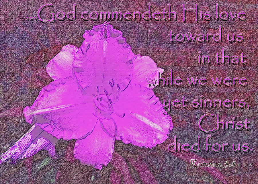 Christian Photograph - Christ Died For Us by Larry Bishop