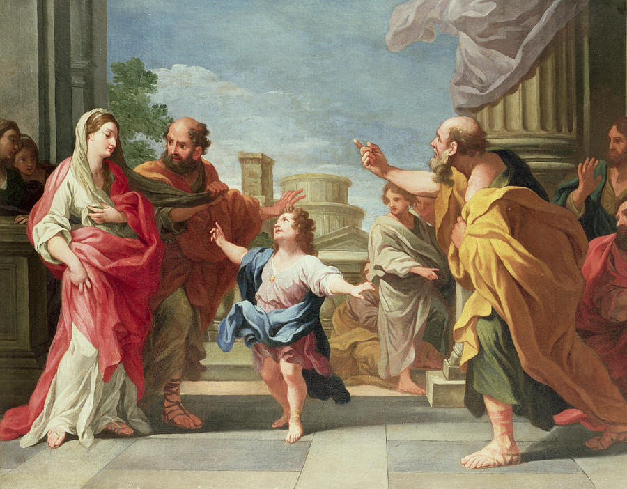 Ludovico Painting - Christ Preaching In The Temple by Ludovico Gimignani