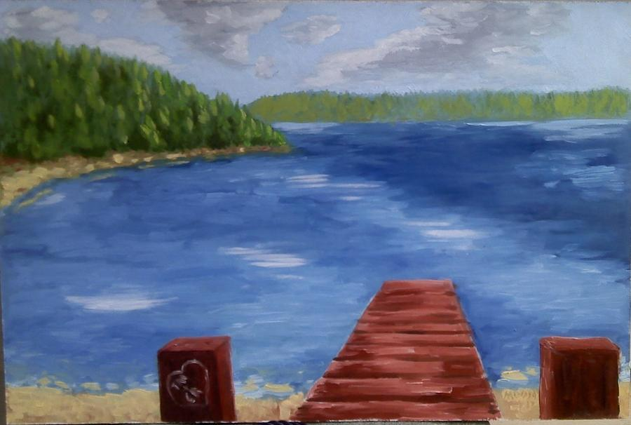 Landscape Painting - Christina And Tylers Getaways Spot by Brad Moon