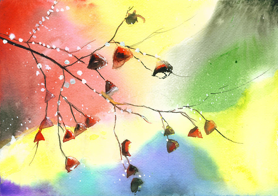 Nature Painting - Christmas 1 by Anil Nene