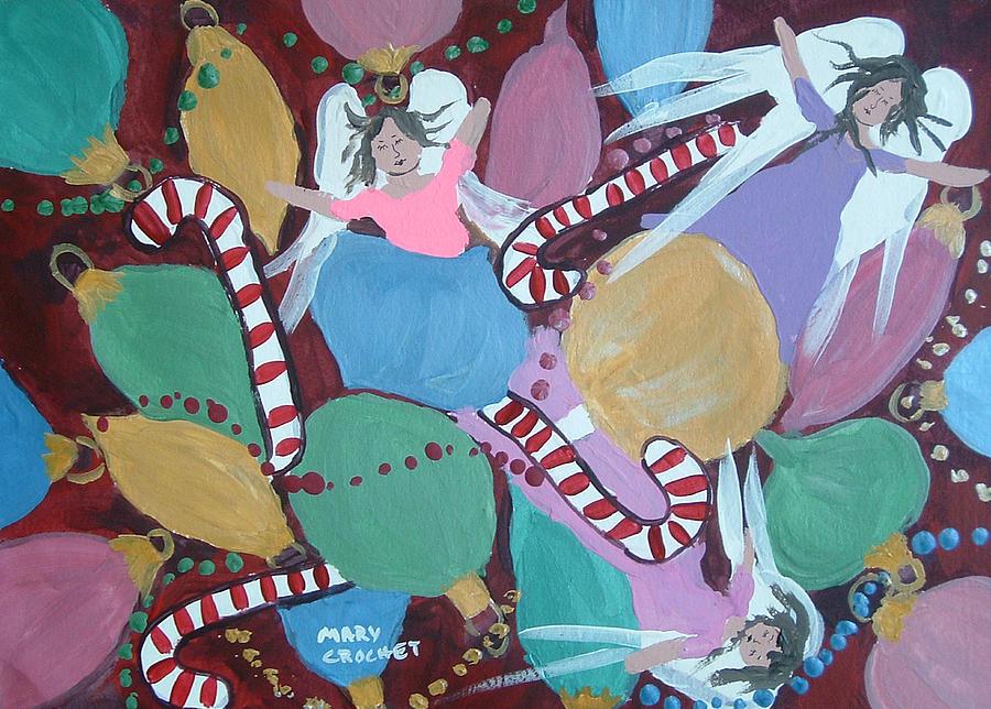 Christmas Painting - Christmas Bulbs by Mary Crochet