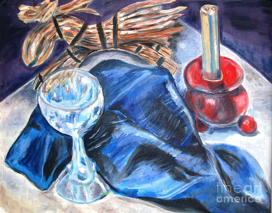 Smorgasbord Table Painting - Christmas Eve by Laurel Anderson-McCallum