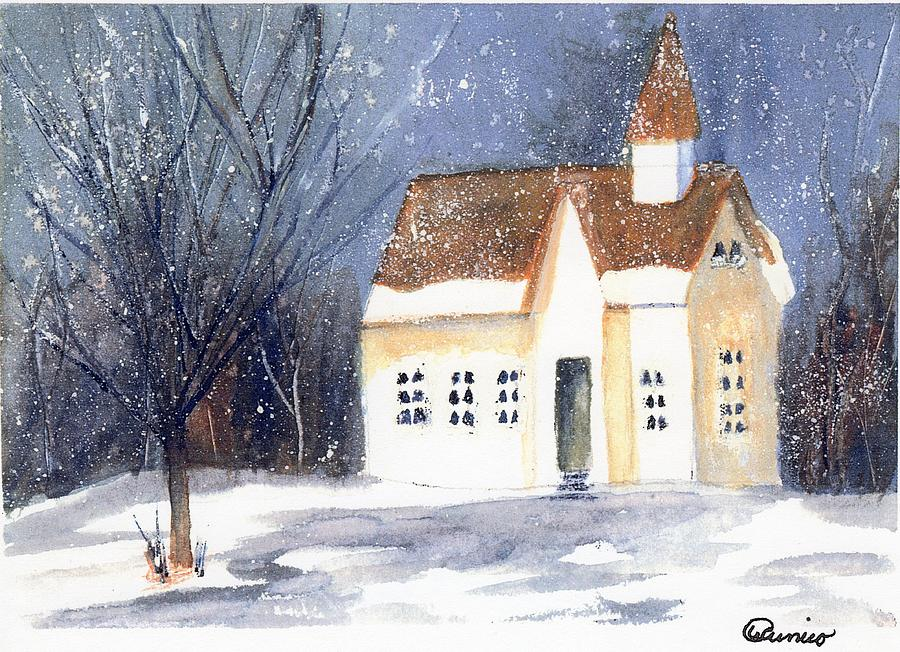 Snow Painting - Christmas Eve by Wendy Cunico