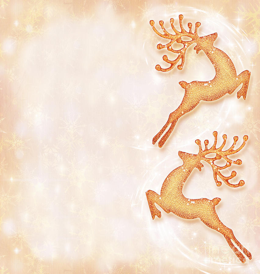 Christmas Holiday Background.Christmas Holiday Card Festive Background Reindeer Decorative